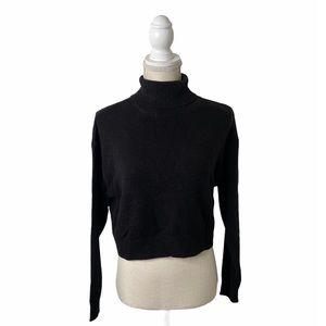 H&M Divided Black Turtleneck Crop Sweater
